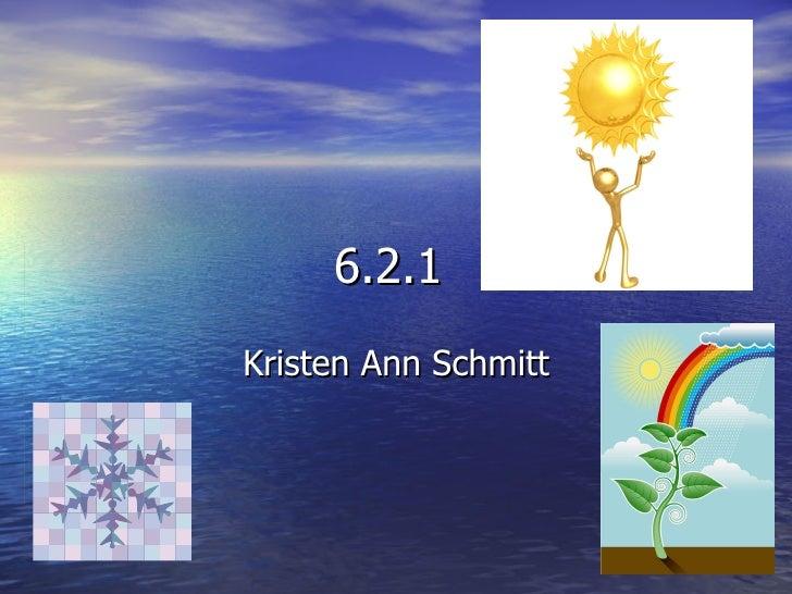 6.2.1  Kristen Ann Schmitt