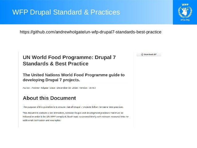UN World Food Programme Standards & Best Practises (European Drupal D…