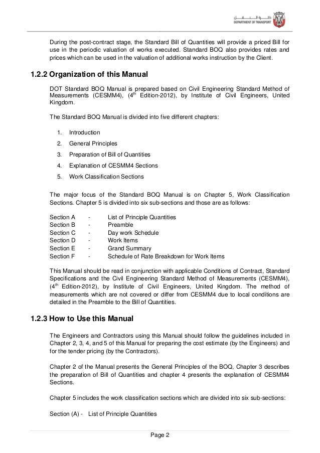 Page 3 A list of principle components of the works with their estimated quantities shall be provided to assist the tendere...