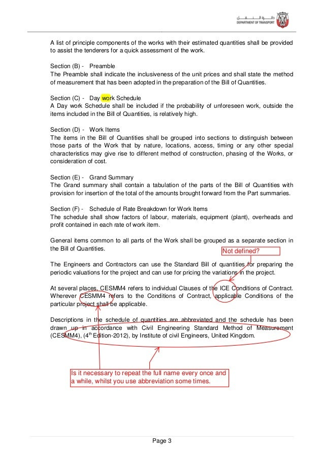 Page 4 2 GENERAL PRINCIPLES 2.1 Title Application and Extent The title of this document is Standard Bill of Quantities Man...