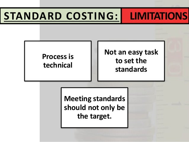 standard costing variances Advantages of standard costing: read this article to learn about the advantages, disadvantages and behaviour consideration analysis of variances will.