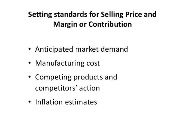 standard costing Standard costing and management by exception definition, explanation of the  concept of standard costs and management by exception.