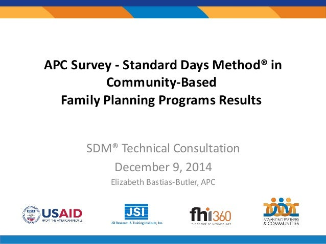 Standard days method in community based family planning for Family planning com