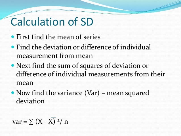 Standard deviation calculation ccuart Choice Image