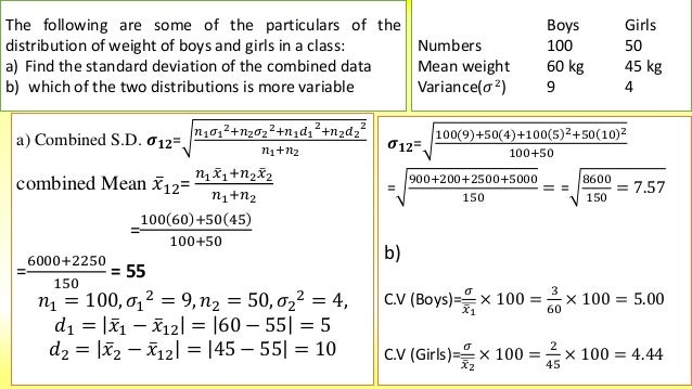 how to find standard deviation on cas