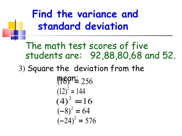 what is the standard deviation in math