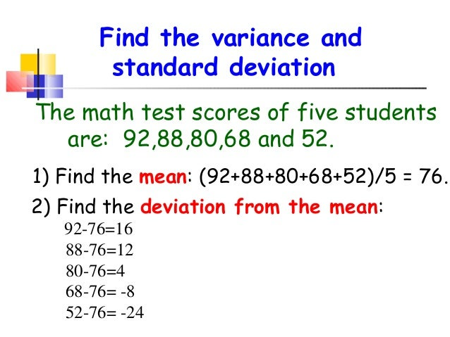 Standard deviation 3 find the variance and standard deviation ccuart Image collections
