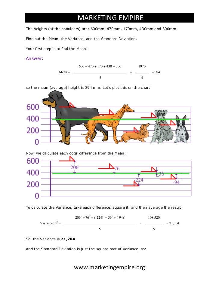 Standard Deviation Calculation Process 2