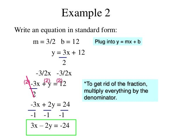 Write The Equation In Standard Form Dolapgnetband