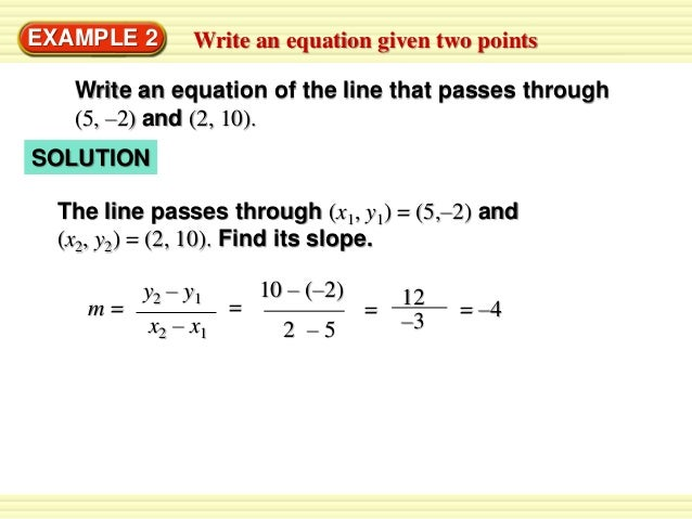 standard form using two points  Standard form solve equations