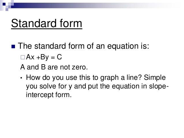 Y Intercept Definition Standard Form Equation...