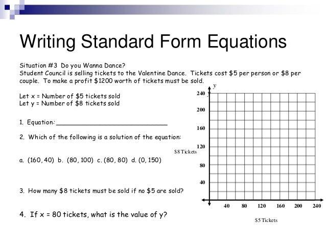 Standard Form Equations 2012 13 Edmodo