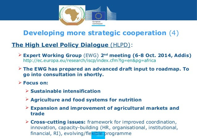 Research and Innovation The High Level Policy Dialogue (HLPD):  Expert Working Group (EWG) 2nd meeting (6-8 Oct. 2014, Ad...