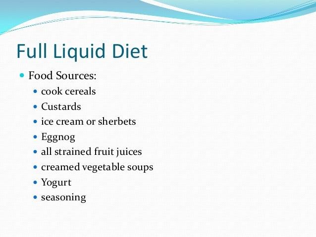 Clear Liquid Food List