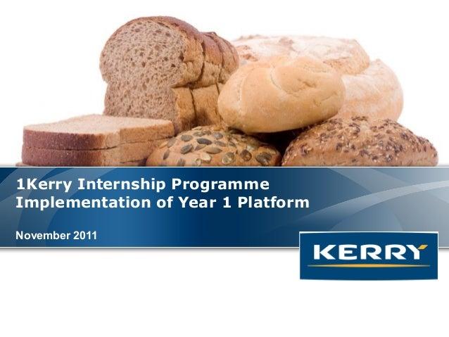 1Kerry Internship ProgrammeImplementation of Year 1 PlatformNovember 2011                                    Where It All ...