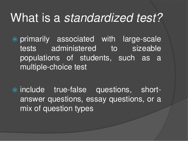 essay on standardized testing in education How standardized tests shape—and limit—student learning a policy research  american educational research journal 44  automated essay scoring (aes.