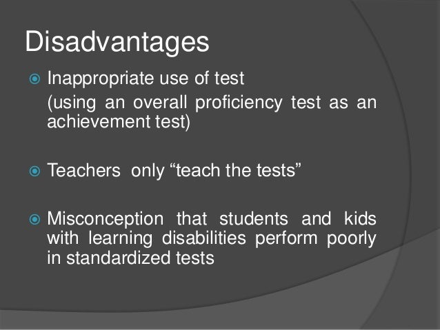 should standardized testing be used in Measuring student achievement  measuring student achievement: a study of standardized testing & its effect on student learning.