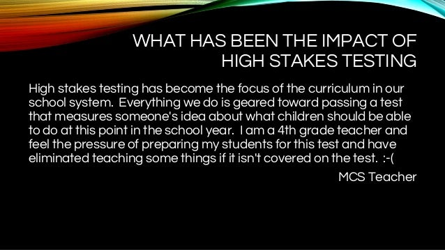 the negative impact of high stakes standardized Negative impacts of high-stakes testing the shaping of the lutheran teaching profession and lutheran families of teachers in the 16th and 17th centuries professional families - the development of the relationship between a professional mother and the child in the context of the mother's status.