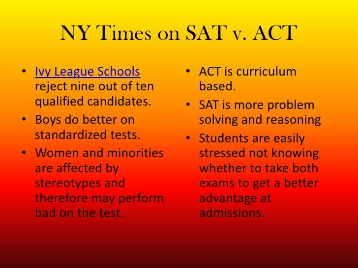 Some problems with Standardized Tests problems