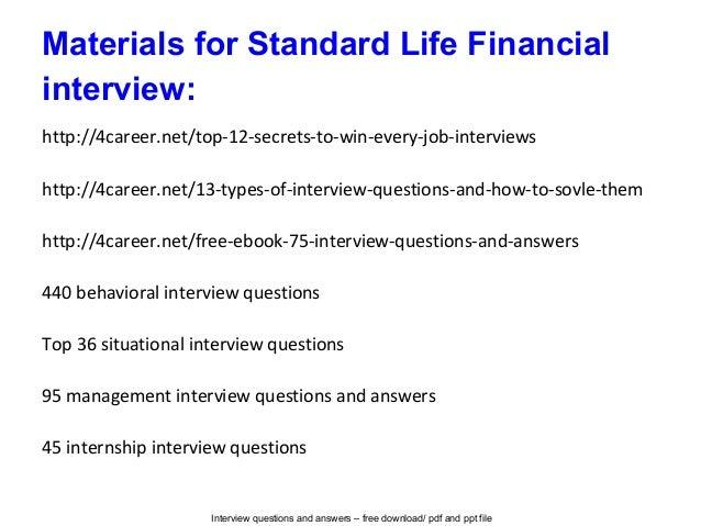 standard interview questions