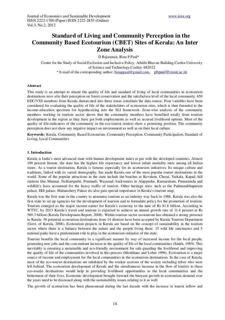 Journal of Economics and Sustainable Development                                              www.iiste.orgISSN 2222-1700 ...