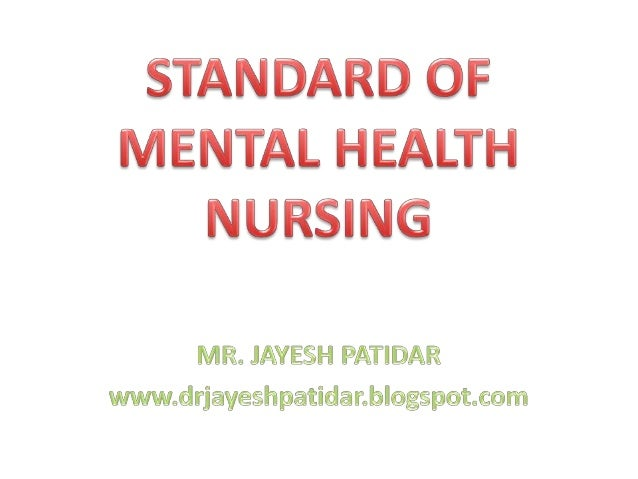 1. Standard I: Theory• Psychiatric & mental health nursing ischaracterized by the application ofrelevant theories to expla...