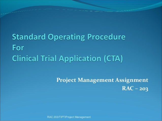 Project Management Assignment RAC – 203  RAC 203/TIPT/Project Management