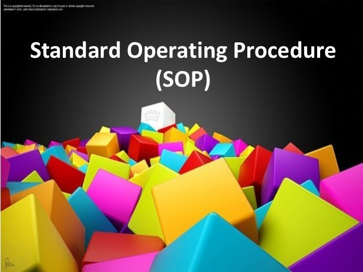 warehouse standard operating procedures template - standard operating procedure