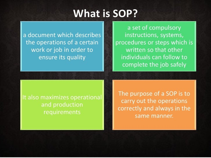 High Quality What Is SOP?