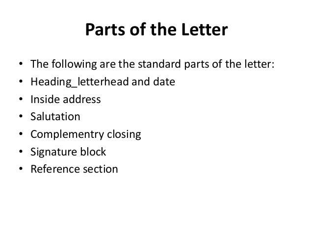 standard letter
