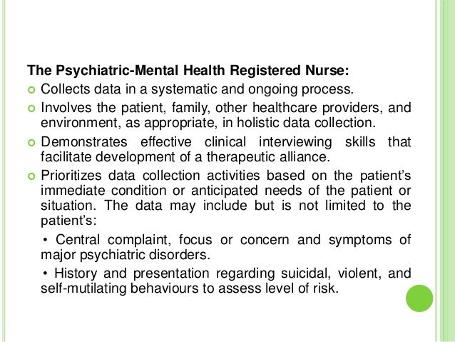 Standards, challenges and scope of psychiatric nursing