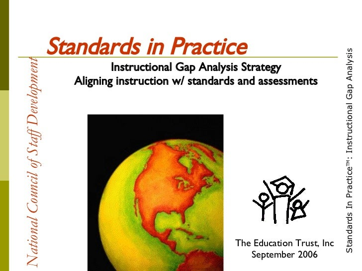 National Council of Staff Development   Standards in Practice Instructional Gap Analysis Strategy Aligning instruction w/ ...