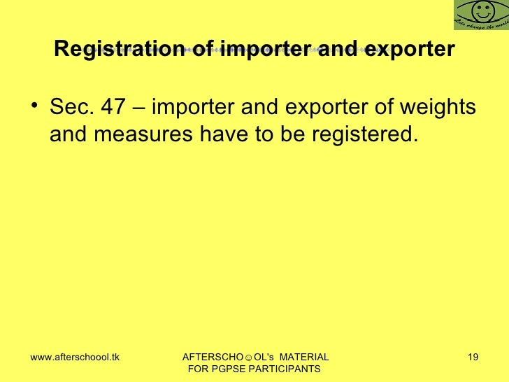 Weights and Measures Regulations 1999