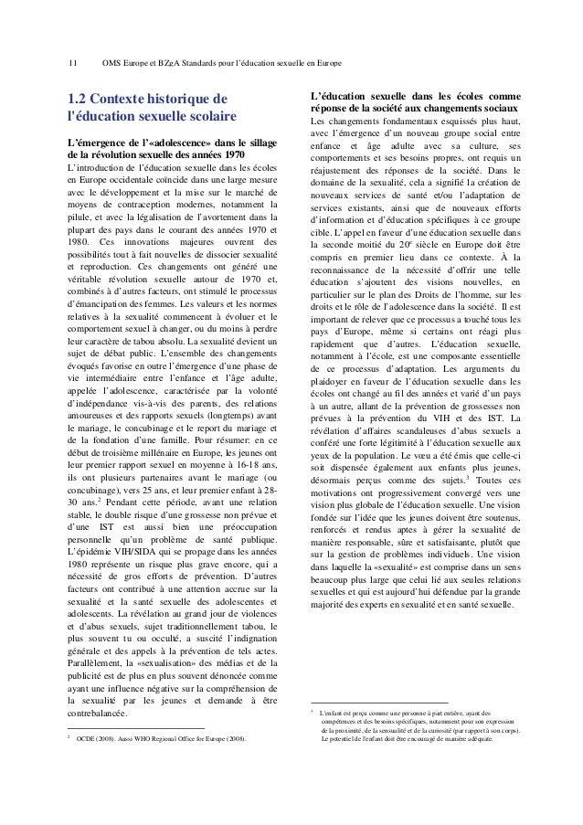 15  3.  OMS Europe et BZgA Standards pour l'éducation sexuelle en Europe  les programmes qui incluent les éléments de la c...