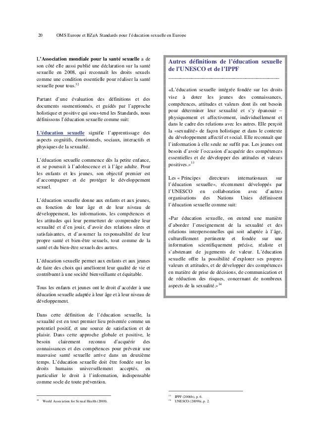 24  OMS Europe et BZgA Standards pour l'éducation sexuelle en Europe  Changement d'intérêt à la préadolescence et développ...