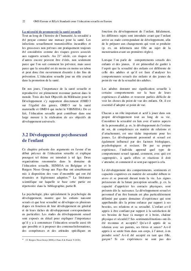 26  OMS Europe et BZgA Standards pour l'éducation sexuelle en Europe  12-15 ans: puberté La plupart des garçons commencent...