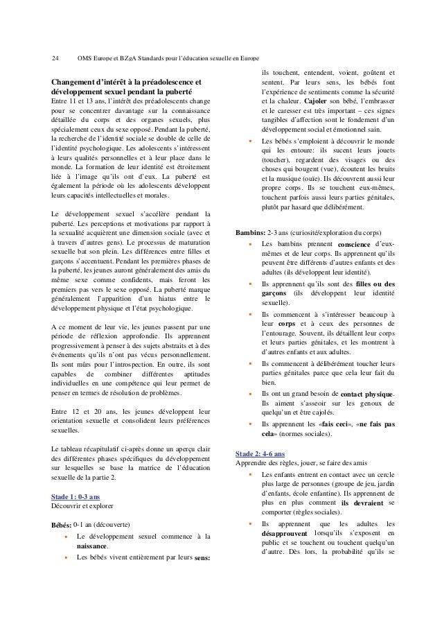 28  OMS Europe et BZgA Standards pour l'éducation sexuelle en Europe  5. Groupes cibles et partenaires Les destinataires e...