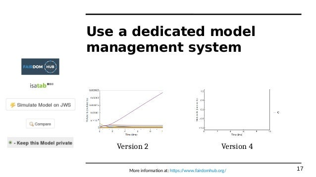 Model management for systems biology projects