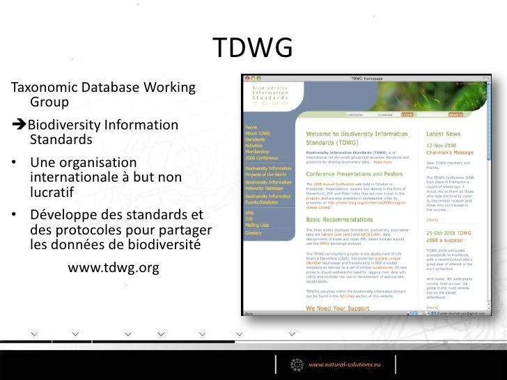 Standard de données de biodiversité<br /><ul><li>Standard de données ≈ Format de données ≈ Schéma de données</li></ul>Echa...