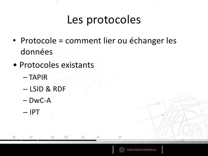 Utilisation conjointe avec les standards de métadonnées</li></li></ul><li>Et après?<br />Modèles de données ≠ standards de...