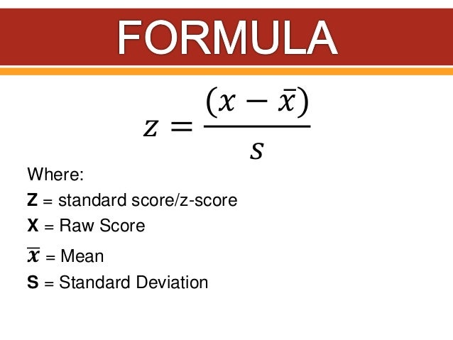 how to find standard score
