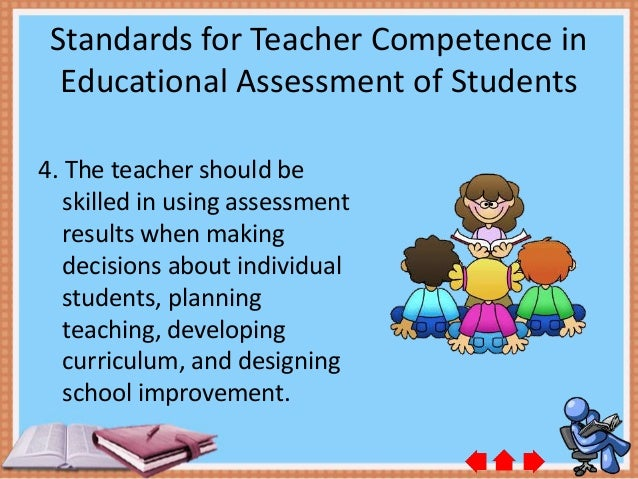 standards for teacher competence in educational assessment of student