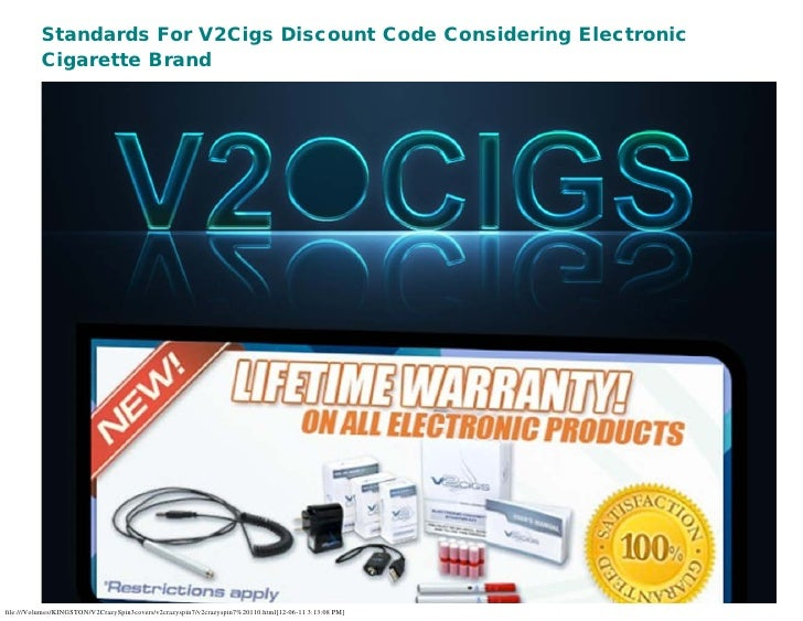 Standards For V2Cigs Discount Code Considering Electronic          Cigarette Brandfile:///Volumes/KINGSTON/V2CrazySpin3cov...