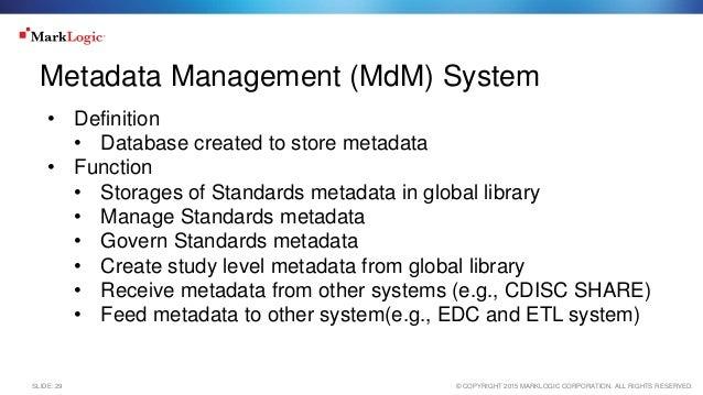 Standards Metadata Management System