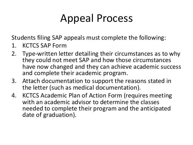Standards of academic progress sap presentation 11 16 2012 for Financial aid suspension appeal letter template