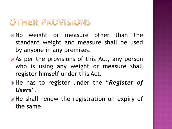 Weights and Measures Laws and Rules