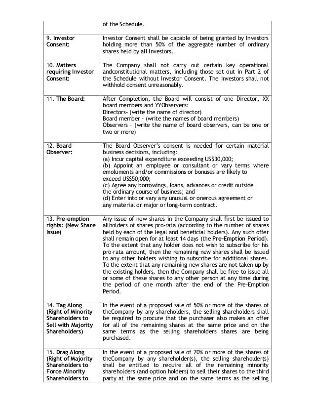 venture capital term sheet template - term sheet sample business term sheet template term sheet