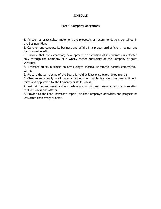 term sheet example