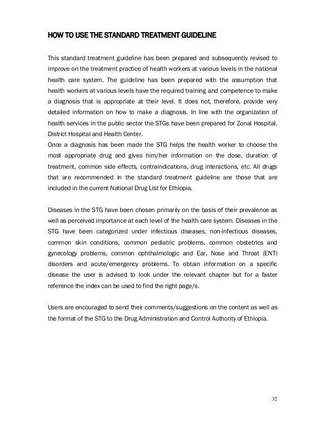standard treatment guideline for primary hospital in ethiopia 2010 rh slideshare net standard treatment guidelines for district hospital - ethiopia pdf standard treatment guideline for ethiopia
