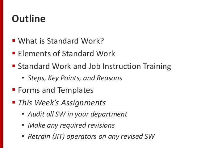 Standard Work Training